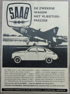 Saab - Lot of 36 Advertisements from 1950 to 1974