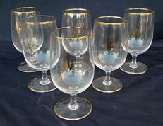 Rare set of gold decorated glasses
