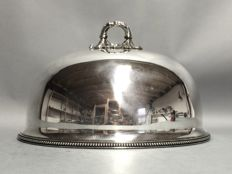 Silver plated cloche with pearl edge, Boardman, Glossop & Co, Sheffield, England, ca. 1895