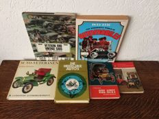 Lot with 6 books about Veteran and Vintage cars..
