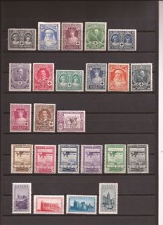 Spain 1926/19  – Set of complete series  – Edifil No. 325/338, 448/453, SH847