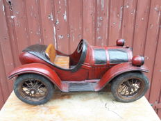 Large polystone car hand-painted, 2nd half 20th century