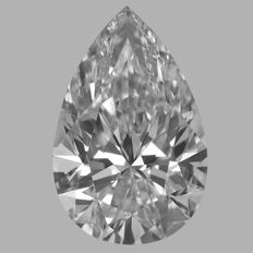 Pear Brilliants  0.50ct  DVVS2 - GIA  -Original Image# GW7407