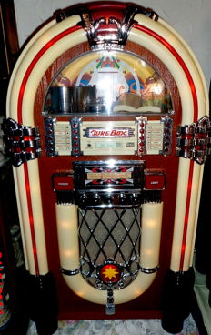 "XXL musicbox/jukebox, retro ""Wurlitzer,"" Elta 2752 with radio, tape deck, CD player, super!!"