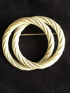 Christian Dior Rope Design Brooch