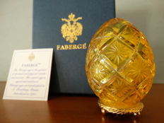 Fabergé - Authentic Imperial Egg Fabergé -Crystal base 24k gold finished