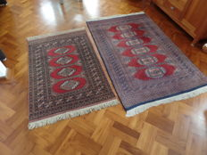 Pair of Bochara carpets - 190 x 123 cm, 148 x 98 cm