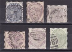 Great Britain 1883 - Lilac & Greens Unificato 76/85