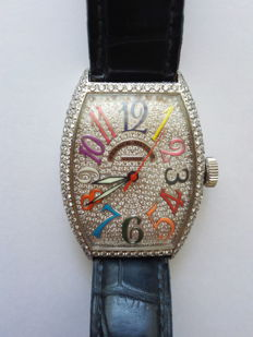 Franck Muller White Gold Diamond Automatic  5850 SC D CD COLOR DRM