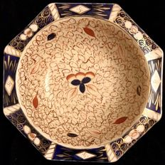 An interesting English, tableware piece, WADE factory , octogonal shape , large dish , fully marked , hand decorated in Imari style