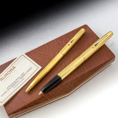 Aurora 98 (2nd Generation) Gold-plated Ballpoint and Fountain Pen