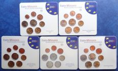 Germany - Euro Coin Sets 2004 A, D, F, G, J