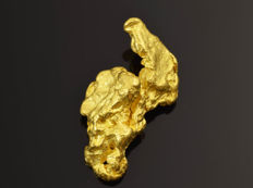 Natural Gold Nugget - 16.1 x 8.1 x 7.1 mm - 13.73 ct