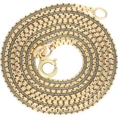 14 kt – Yellow gold necklace featuring flat links – Length: 49.2 cm