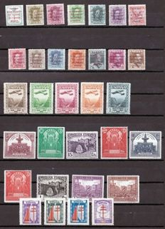 Spain 1929/1943 – Set of complete series – Edifil No: 455/468, 604/613, 650/654, 970/973.
