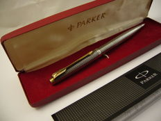 Parker 75 in 925 sterling silver gold plated pen