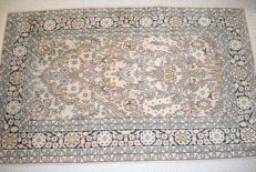 Beautiful 100% nature silk rug Kashmir/Qhum - 2nd half 20th century... 130 x80 cm
