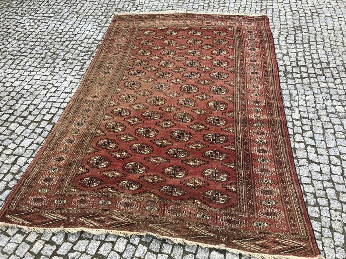 Old and Unique Turkmen Patina RUG 275x175 Hand knotted
