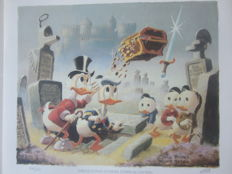 Barks, Carl - Lithograph - Uncle Scrooge - Preliminary sketch - Dubious Doings at Dismal Downs (1986)