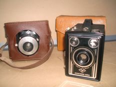 Two analogue cameras - Agfa Synchro box and Agfa Clack