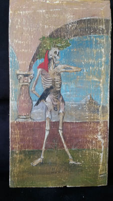 Dance of Death - tempera on wood - 19th century