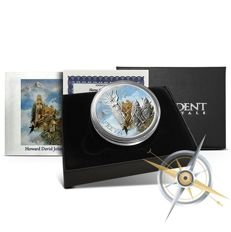 USA - 1 oz Norse Gods Silver Series - Freya Goddess of love - polished plate - colour edition - 999 silver - with box and certificate