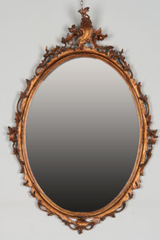 Late Baroque style wall mirror - France, ca. 1870
