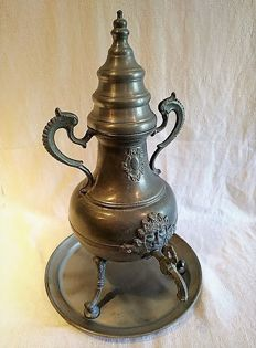 Big tin chocolate pot of 45 cm high