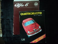 "1 lot Alfa Romeo ""Alfa 6"" Brochures in dutch, size: ca. 30 x 23 cm and 1 Quattroroute Anno 1 N.