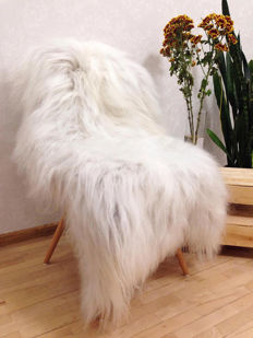Fine pair of extra large, thick Sheepskins - Ovis aries - 120 x 90cm and 115 x 85cm  (2)