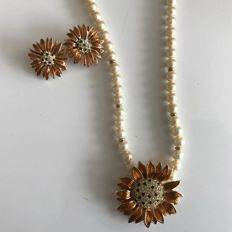 Christian Dior - Very Rare and Vintage Necklace and earclips