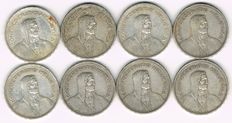 Switzerland - 8 x 5 Francs 1932-1954 - silver