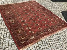 Old and Unique Turkmen Patina RUG 270x225 Hand knotted