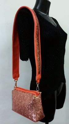Versace Jeans shoulder bag with sequins and strap