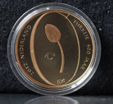 "The Netherlands - 10 Euro coin - 2012 - ""Het Tulpen tientje"" (The Tulip tenner) - gold"