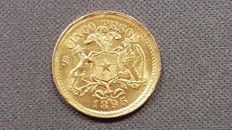 Chile - 5 gold Pesos - Year: 1895 - Minted in Santiago