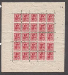 Luxembourg 1930s batch collection of multiples, including Caritas, Officiel, Princess Marie Adelaide stamps
