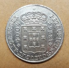 Portugal – Cruzado Novo 1826 – D. Pedro IV – Narrow Crown – Very Rare