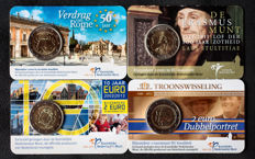 The Netherlands - 2 Euro commemoration 2007/2013 in coincards - 4 different ones