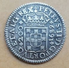 Portugal – 12 Vinténs 1689 – D. Pedro II – Rare – Superior Condition