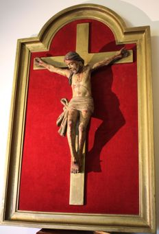 Polychrome carved wooden Corpus Christi - Portugal - XIX century