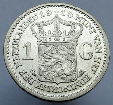 The Netherlands - 1 Guilder 1915 Wilhelmina - silver
