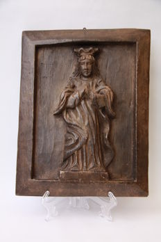 Carved oak panel of Jesus Christ - the Netherlands - 18th/19th century