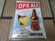 Advertising sign celluloid OPS ALE from Opitter brewery -1953.
