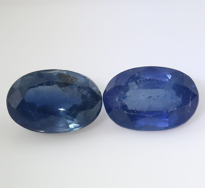 Set of 2 Sapphires -  0.53 + 0.63 = 1.16 ct total - no reserve price