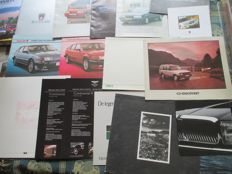 Car brochures (English brands, mostly Jaguar/Rover, 16x,1983-2004)