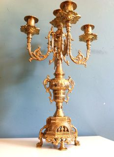 Pastors house large church candlestick - Belgium - early 19th century