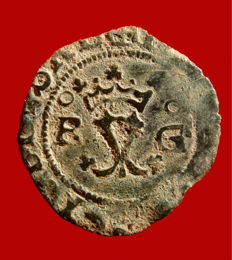 Spain – Catholic Kings (1474–1504) - rare copper blanca Granada R/G