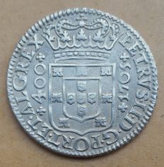Portugal – Cruzado Novo – 1705 – D. Pedro II – Rare – Superior Condition