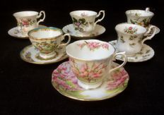Twelve cups and saucers Royal Albert in mint condition